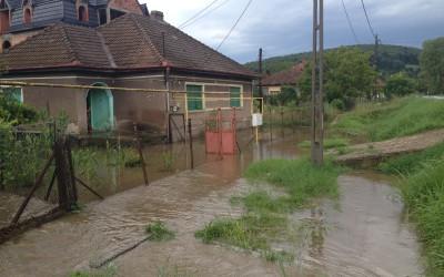 20 de localităţi din judeţ afectate de inundaţii în Caraş-Severin