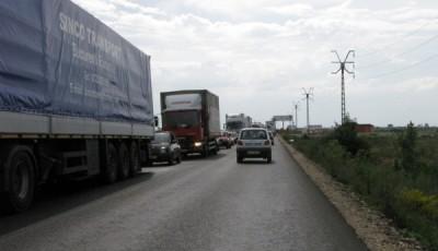 Trafic inchis pe DN7 in zona CET Arad. Autovehiculele sunt deviate de pe centura Aradului prin Curtici