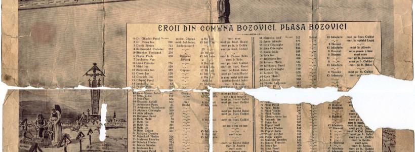 Eroii din primul război mondial vor fi comemoraţi în Caraş-Severin