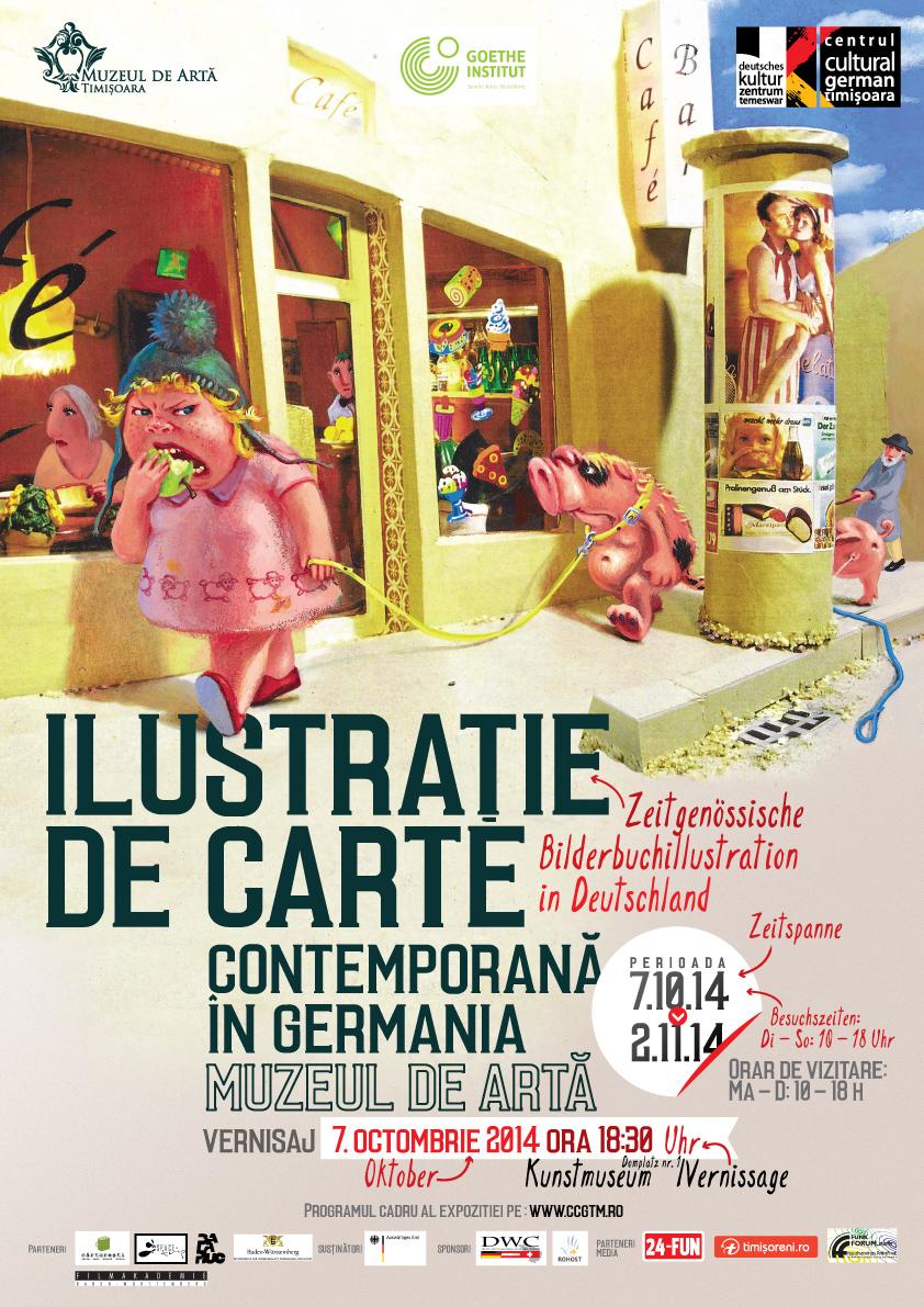 Expoziţia 'Ilustraţie de carte contemporană în Germania', la Muzeul de Artă Timisoara