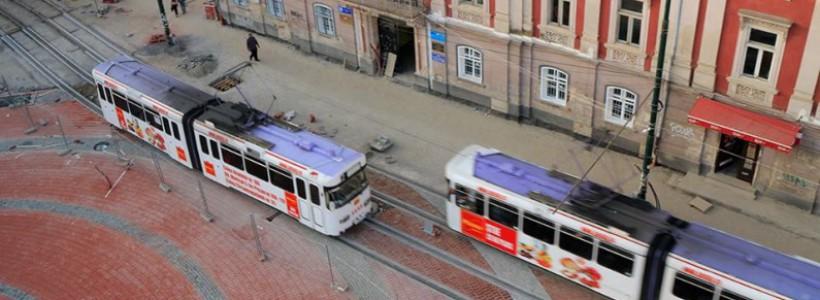 tramvaie piata libertatii Timisoara