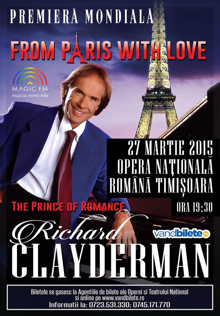 Afis RICHARD CLAYDERMAN Timisoara