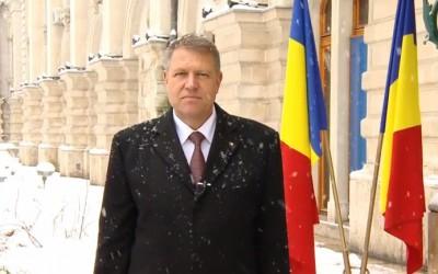 Presedintele Romaniei, Klaus Iohannis, adreseaza Mesajul de Anul Nou