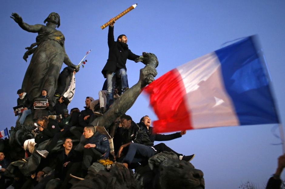 Marsul Solidaritatii de la Paris -cel mai mare de pana acum