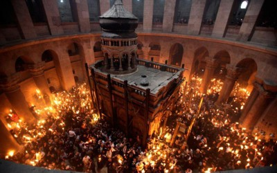 lumina sfanta de la Ierusalim