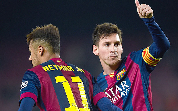 Messi si Neymar FC Barcelona