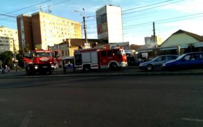 Tramvaiul de pe linia 4 a luat foc, la Timișoara