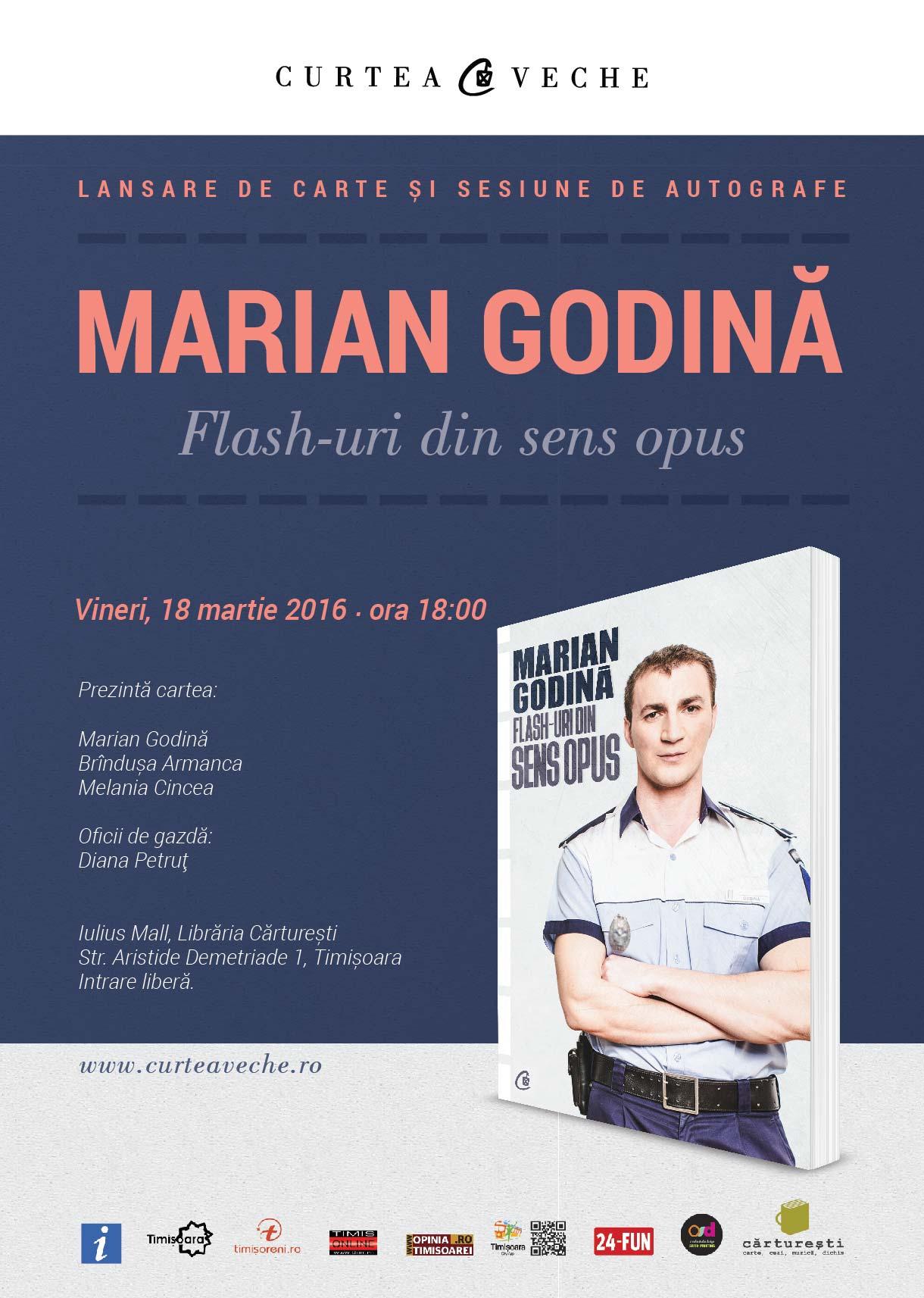 Afis_Marian Godina_Timisoara_18 martie 2016