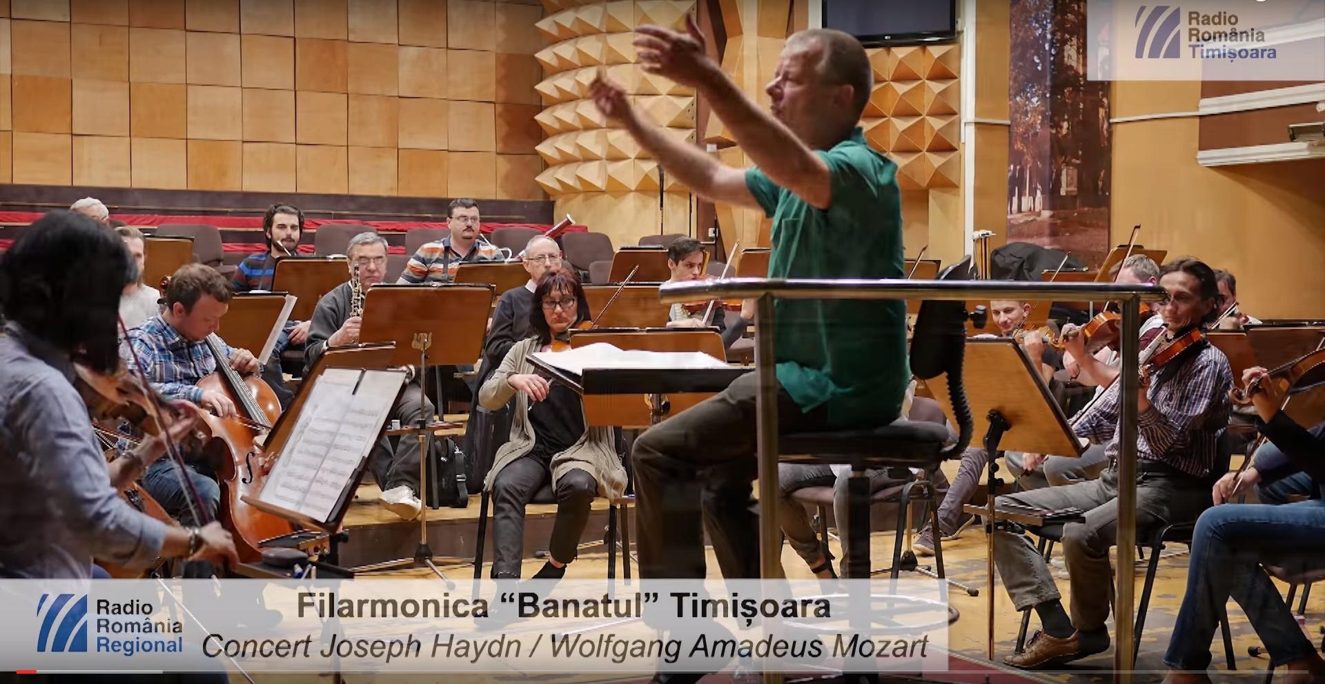 """Vezi un interviu cu dirijorul Michael Hasel, dar și secvențe de la repetițiile pentru concertul Filarmonicii """"Banatul"""" din Joia Mare!"""