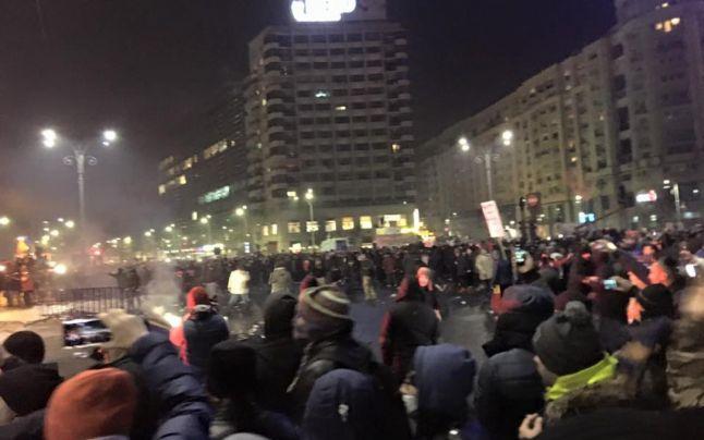 violente protest