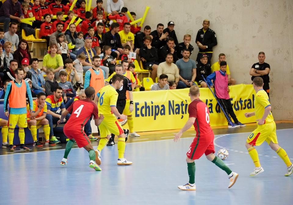 Romania Portugalia fotbal in sala Calarasi
