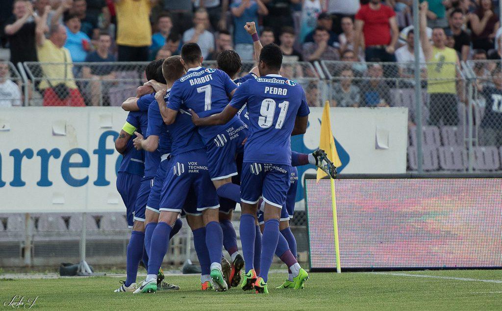 Poli a făcut rapid 2-0, aseară, după golurile reușite de Pedro (22) și CÂnu (25). FOTO: Leczki Józsi / Facebook