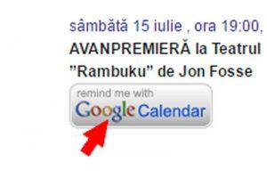 Adăugă reperele din Agenda evenimentelor direct în Google Calendar