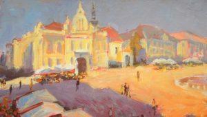 """Expoziție de pictură """"Peisaje timișorene"""" semnată de pictorul Pavel Torony"""